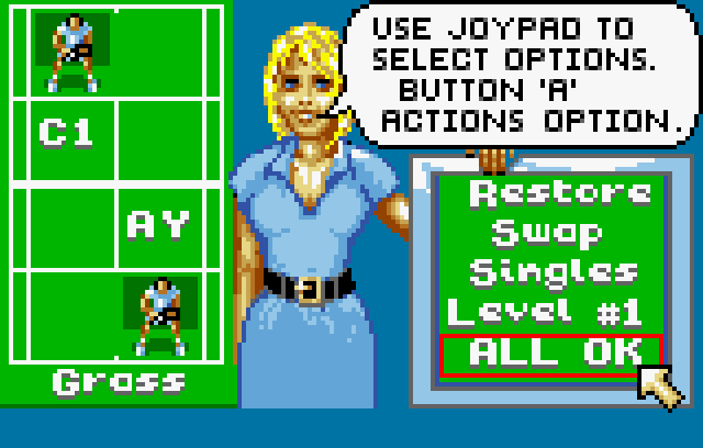 Jimmy Connors' Tennis - Screenshot