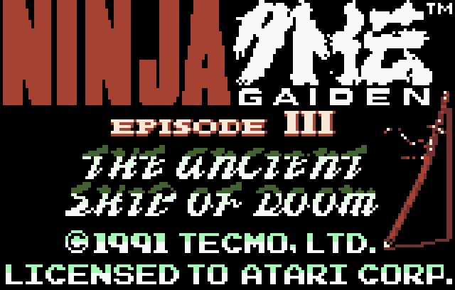 Ninja Gaiden III: Ancient Ship of Doom - Screenshot