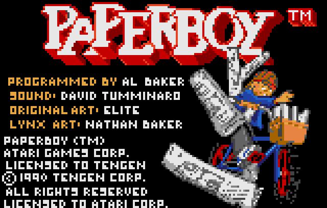 Paperboy - Screenshot