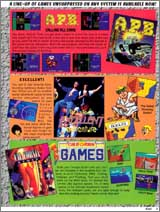Page 5, APB, Bill & Ted's Excellent Adventure, California Games