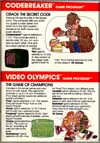 Page 25, Codebreaker, Video Olympics