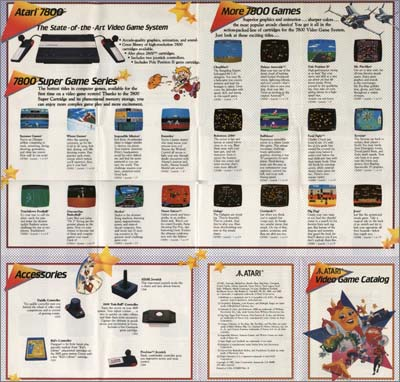 Page 1, Centipede, Choplifter!, Desert Falcon, Dig Dug, Food Fight, Galaga, Impossible Mission, Joust, Karateka, Ms. Pac-Man, One-on-One Basketball, Pole Position II, Robotron: 2084, Summer Games, Touchdown Football, Winter Games, Xevious