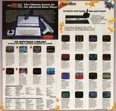 Page 2, Battlezone, Centipede, Crystal Castles, Defender II, Dig Dug, Galaxian, Joust, Jr. Pac-Man, Kangaroo, Midnight Magic, Millipede, Ms. Pac-Man, Pole Position, RealSports Football, RealSports Soccer, Solaris