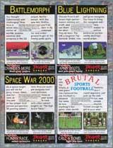 Page 13, Battlemorph, Blue Lightning, Brutal Sports Football, Space War 2000