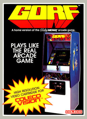 Gorf for Colecovision Box Art