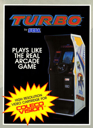 Turbo for Colecovision Box Art