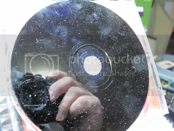 What does disc rot look like on original PlayStation discs