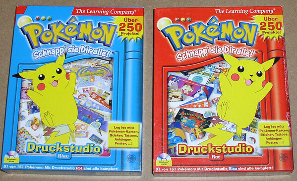 Pokemon Print Studio Red version and Blue version (German)