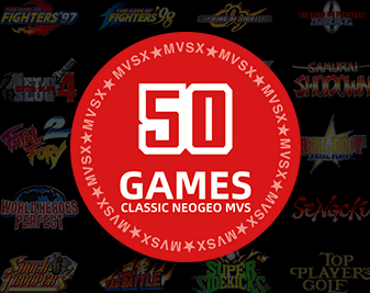 50 legendary NEOGEO titles preinstalled in MVSX