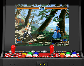 Remake the classic NEOGEO MVS cabinet with 17 inch display
