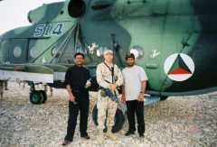 me and two loca nationals - Ghazny Afghanistan