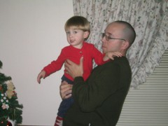 me and my boy, x-mas 2005 - North Carolina