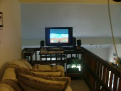 blurry pic of my game room