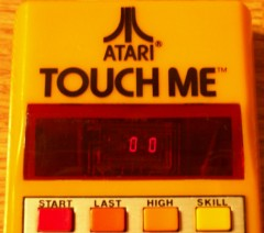 Atari Touch Me (Close-Up of Screen)