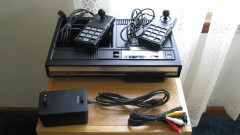 A/V modded ColecoVision with modded controllers, A/V cord and power supply