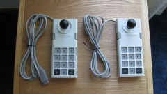 Coleco Adam Controllers with ball knobs and straightened cords