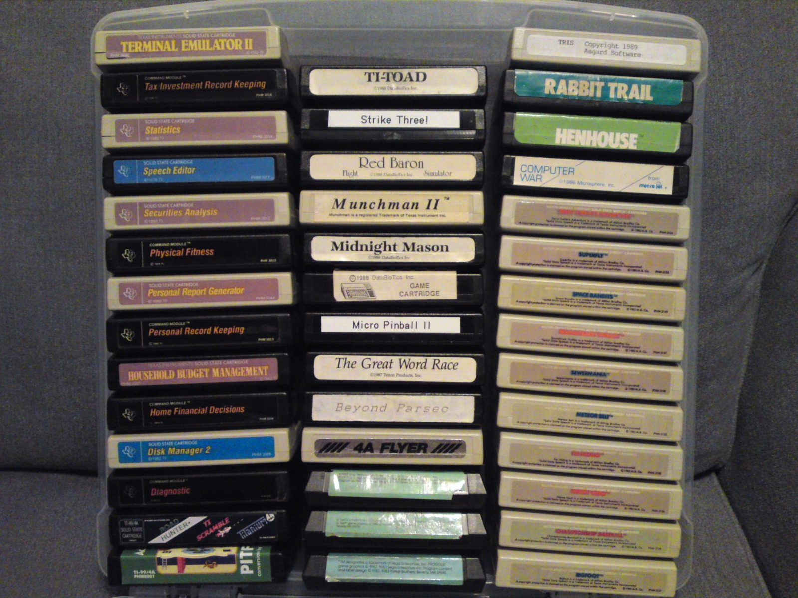 Texas Instruments Cartridge Collection