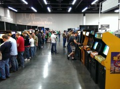 this years freeplay arcade, gets bigger and better every year, this pic only shows 1 of 3 rows of arcade and pins!
