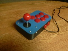 3d printed right hand USB joystick with 3d printed 4 way gate