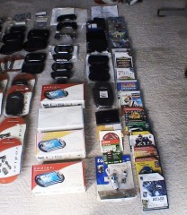 Complete Tapwave Collection Palm games, and boxed units