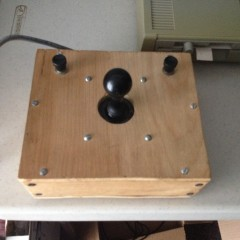 Homemade arcade-like joystick (not my work)