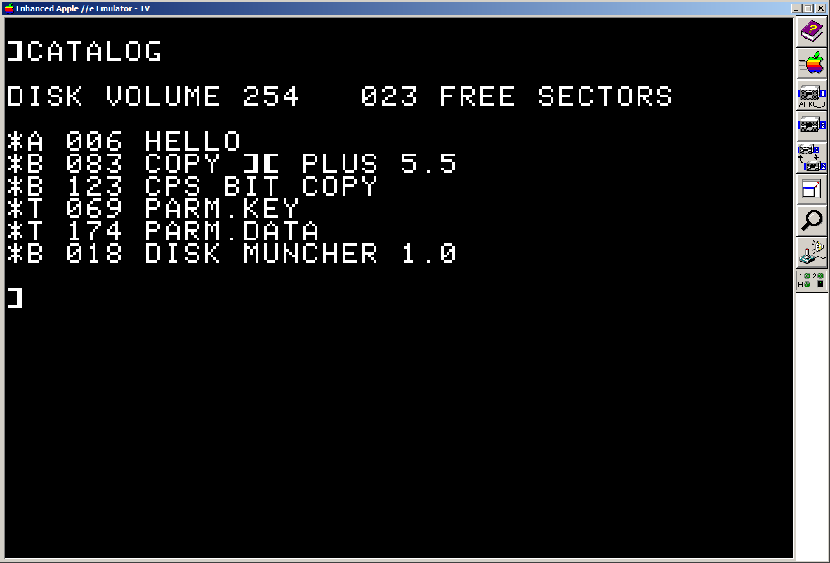 Apple ][ DOS 3.3 with FreeSectors and ProntoDOS