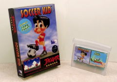 Soccer Kid + Frog Feast combo cartridge with box