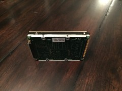 Bottom view - ADTX IDE Hard drive with both SCSI adapter and 2.5 to 3.5 inch adapter attached