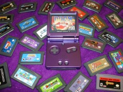 Custom Purple AGS-101 Model GBA SP