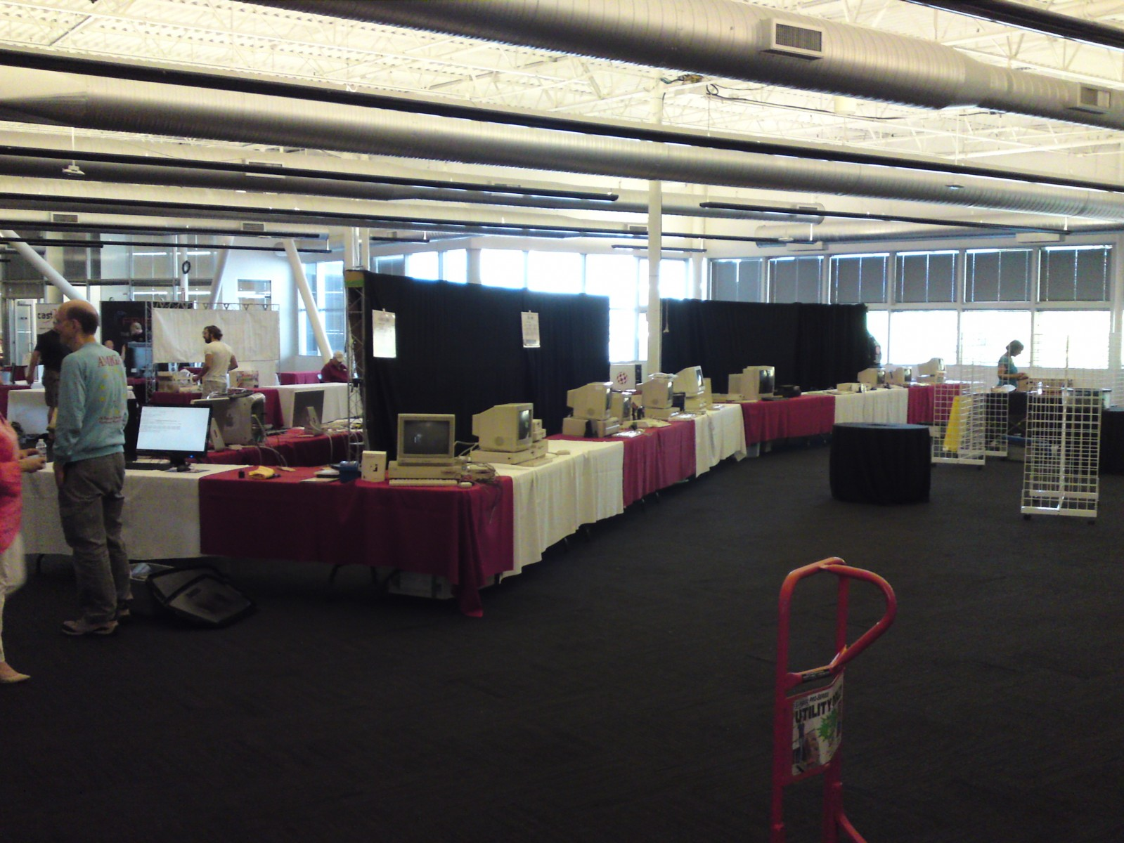Exhibit hall from the entrance (just before open)