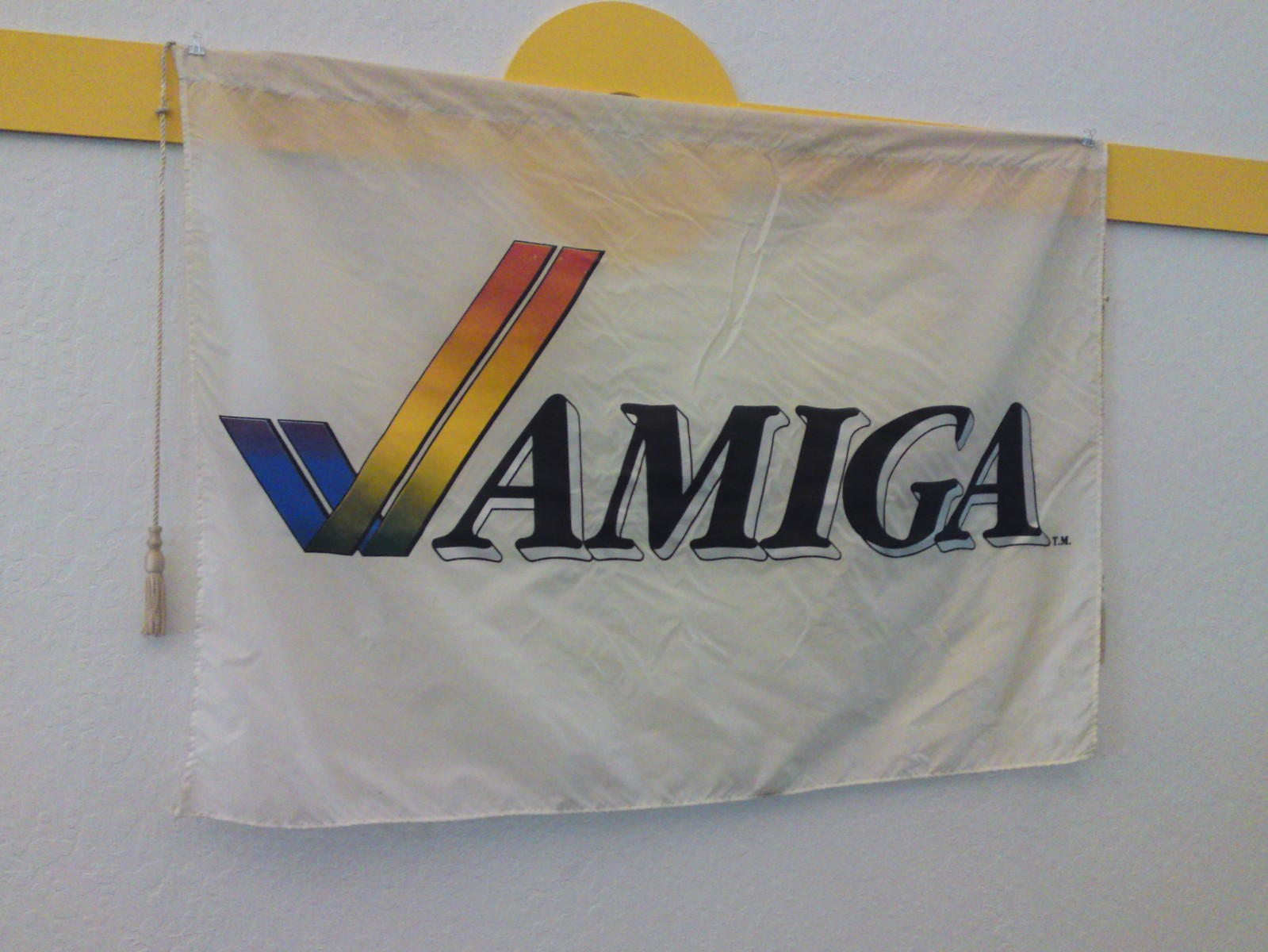 Amiga banner in exhibit hall