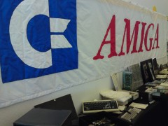 C= Amiga banner in exhibit hall