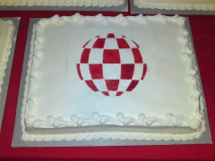 Boing Ball cake at banquet