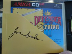"""Defender of the Crown II"" for CD32 signed by Jim Sachs"