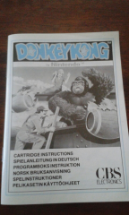 CBS Donkey Kong for Intellivision: Scandinavian manual
