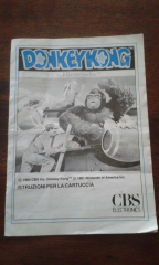 Italian only CBS Donkey Kong manual for Intellivision