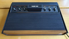 Atari 2600 woodgrain six switch (warm war)