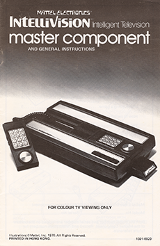 Intellivision Master Component And General Instructions