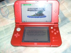 Minecraft for New Nintendo 3DS crashes