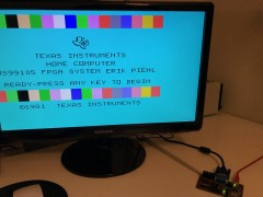 My TMS9900 CPU on the FPGA for the first time renders the boot picture properly!