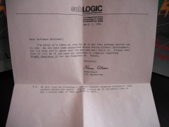 Flight Simulator II Letter from SubLOGIC