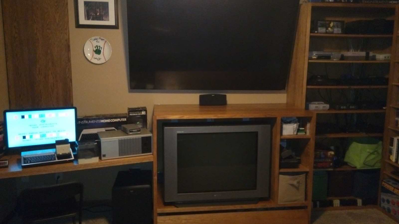South Wall - Consoles & TVs