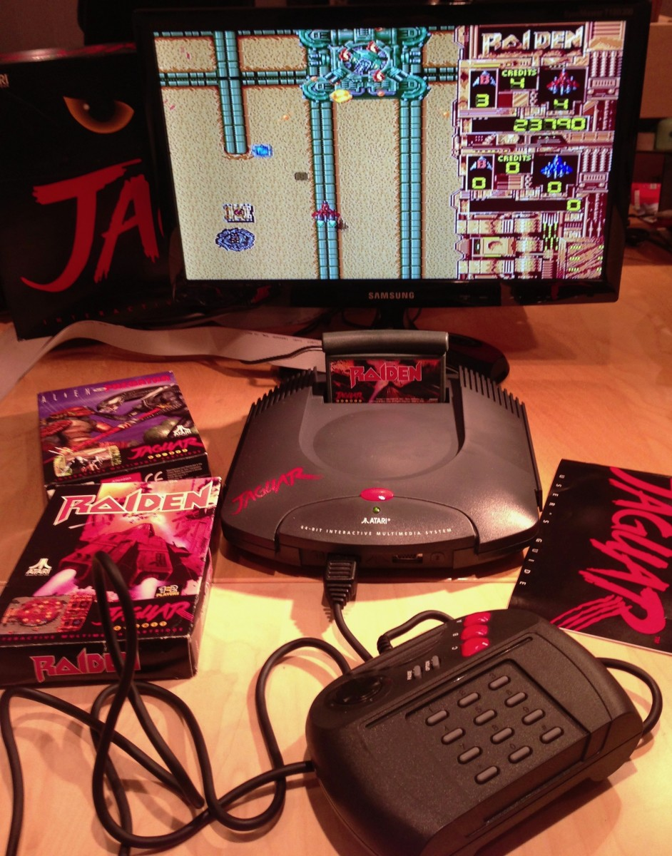 Atari Jaguar running Raiden.