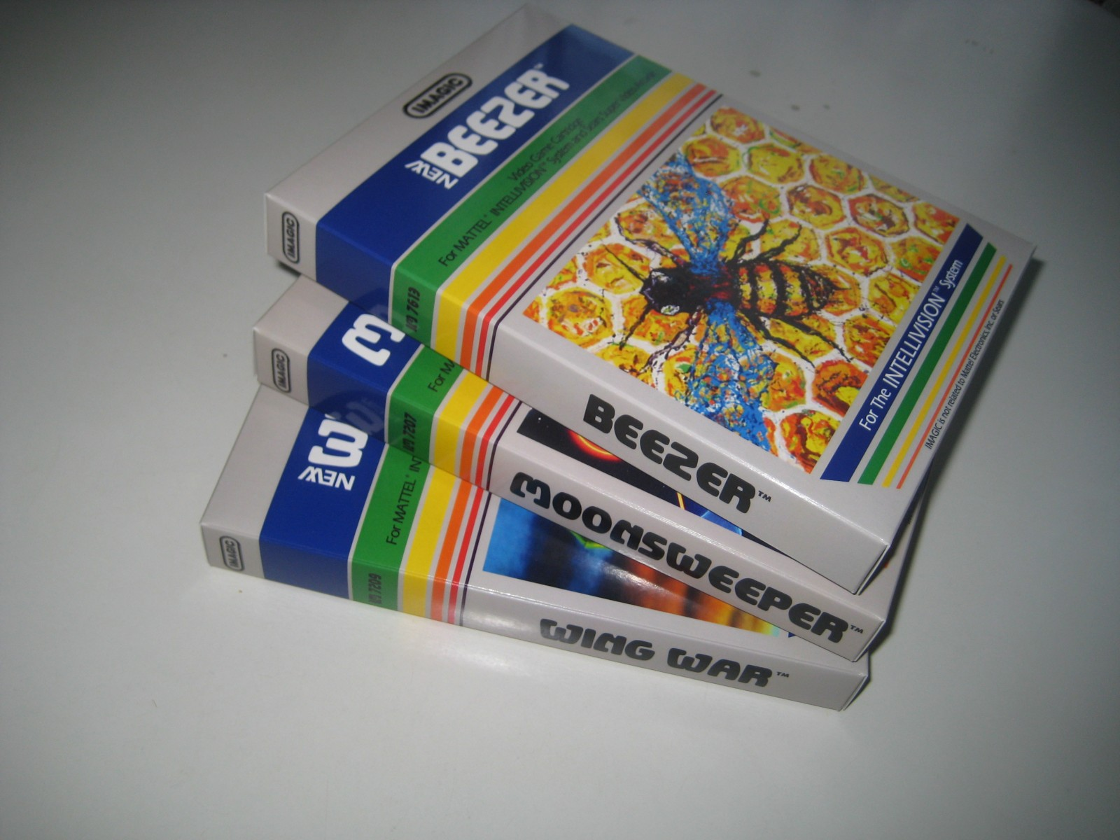 Imagic Boxes for unreleased Intellivision Games