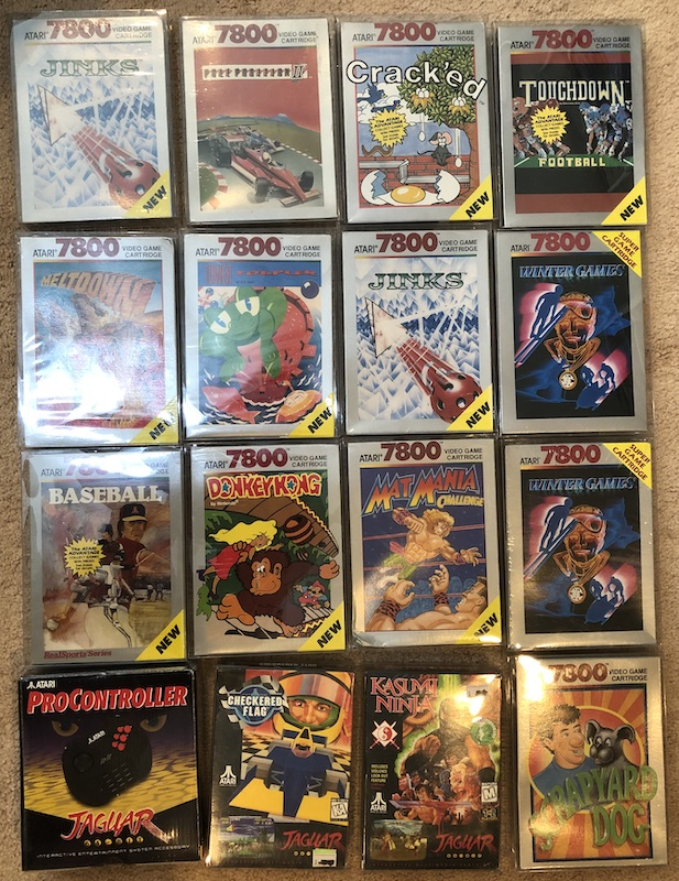 Atari 7800 and Jag Games for sale Front