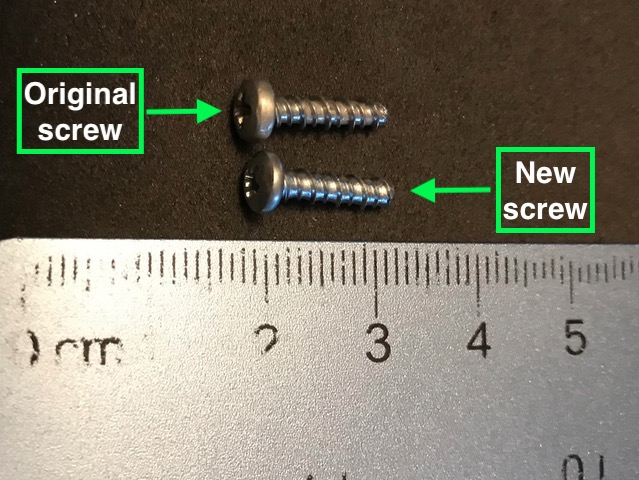 TI chassis screws