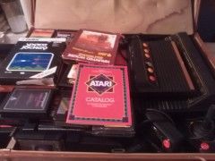 My atari collection, in a suitcase
