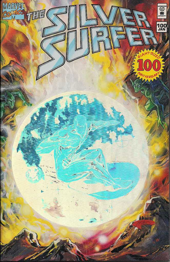 THE SILVER SURFER HOLOGRAM ISSUE  100 front
