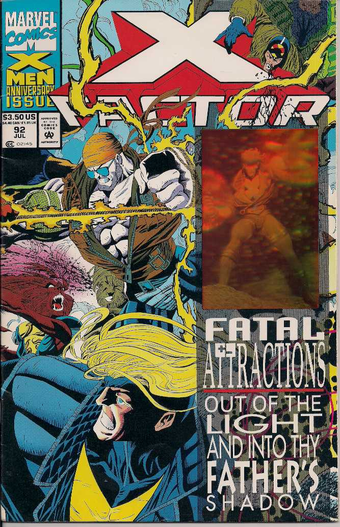 X FACTOR 92 HOLOGRAM ISSUE front