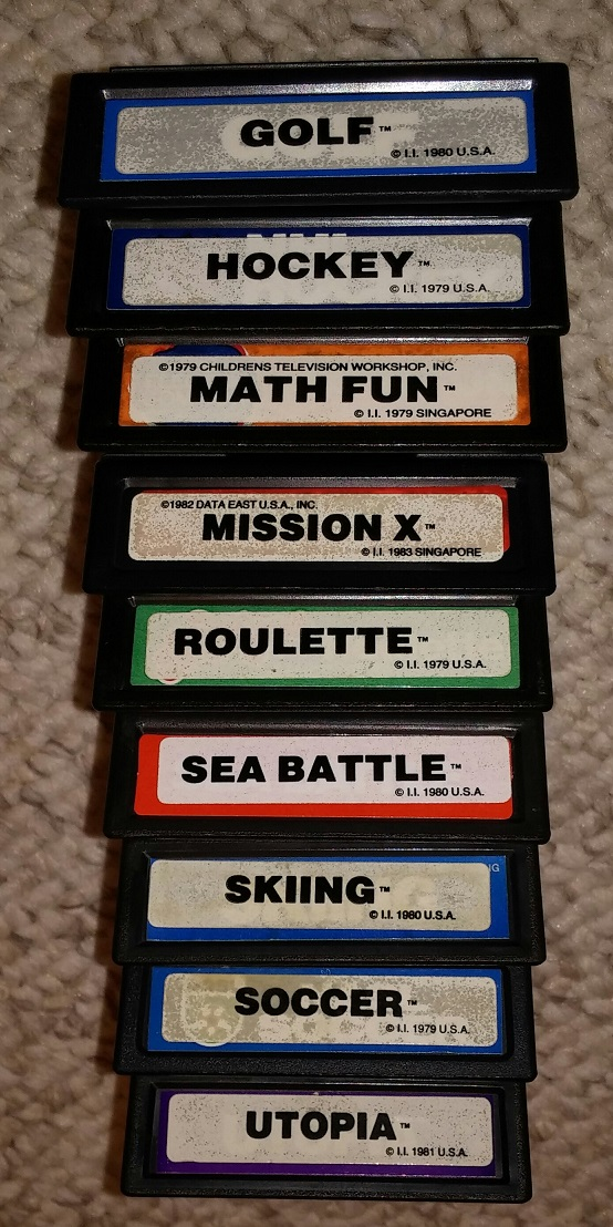 Intellivision Inc double labeled carts (12-2015)